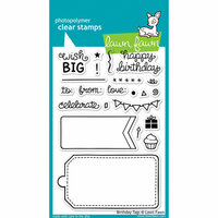 Lawn Fawn - Clear Photopolymer Stamps - Birthday Tags