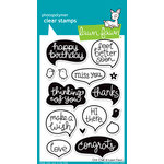 Lawn Fawn - Clear Acrylic Stamps - Chit Chat