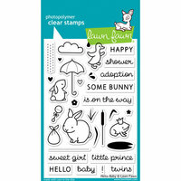 Lawn Fawn - Clear Photopolymer Stamps - Hello Baby