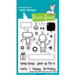 Lawn Fawn - Clear Acrylic Stamps - Beep Boop Birthday