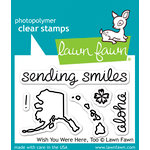 Lawn Fawn - Clear Acrylic Stamps - Wish You Were Here, Too