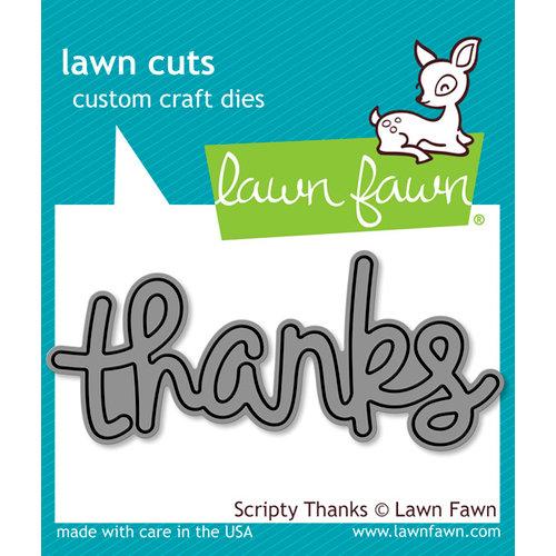 Lawn Fawn - Lawn Cuts - Dies - Scripty Thanks
