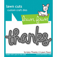 Lawn Fawn - Lawn Cuts - Dies - Scripty Thanks
