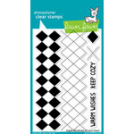 Lawn Fawn - Clear Acrylic Stamps - Argyle Backdrops