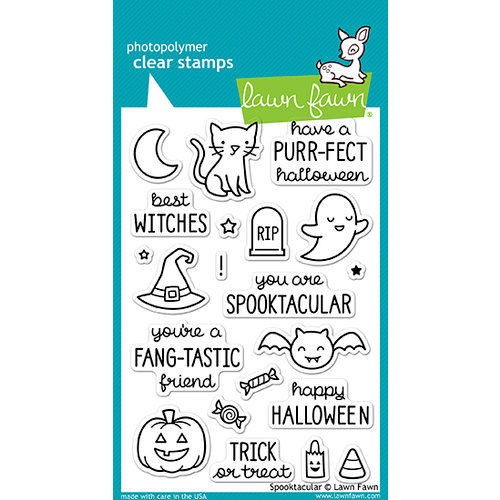 Lawn Fawn - Halloween - Clear Photopolymer Stamps - Spooktacular
