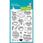 Lawn Fawn - Clear Acrylic Stamps - Love You A Latte