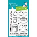 Lawn Fawn - Clear Acrylic Stamps - Milk and Cookies