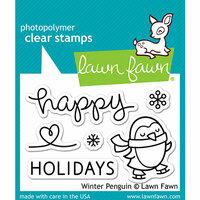 Lawn Fawn - Clear Photopolymer Stamps - Winter Penguin