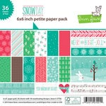 Lawn Fawn - Snow Day Collection - Christmas - 6 x 6 Petite Paper Pack