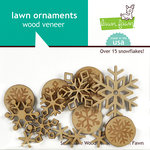 Lawn Fawn - Snow Day Collection - Christmas - Wood Veneer Pieces - Snowflake