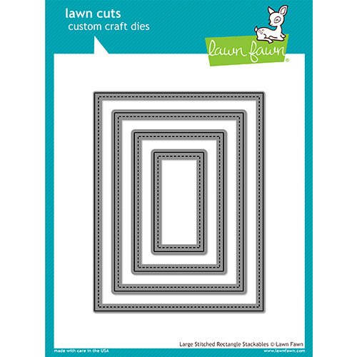 Lawn Fawn - Lawn Cuts - Dies - Large Stitched Rectangle Stackables