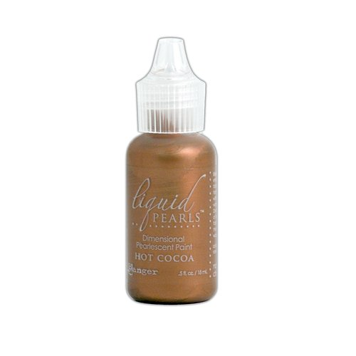 Ranger Ink - Liquid Pearls - Dimensional Paint - Hot Cocoa