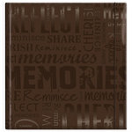 MBI - 12 x 12 Post Bound Album - 20 Top Loading Pages - Memories - Glossy Brown