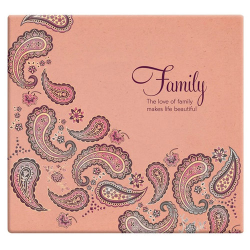 MBI - 12 x 12 Post Bound Album - 20 Top Loading Pages - Memories - Family Paisley
