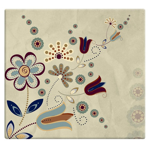 MBI - 12 x 12 Post Bound Album - 20 Top Loading Pages - Folk Floral