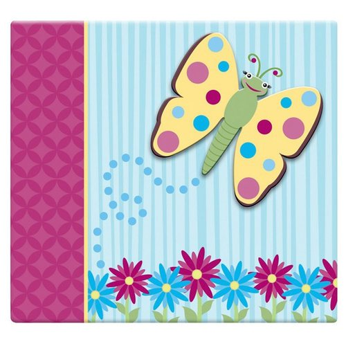MBI - 12 x 12 Post Bound Album - 20 Top Loading Pages - 3D Butterfly