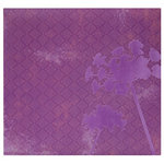 MBI - 12 x 12 Post Bound Album - 20 Top Loading Pages - Flocked Purple Flower