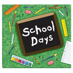 MBI - 12 x 12 Post Bound Album - 20 Top Loading Pages - School Days - Green