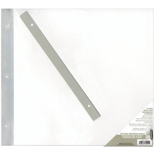 MBI - 12 x 12 Post Bound Scrapbook Album Refill Pack - Top Loading - 12 Pack