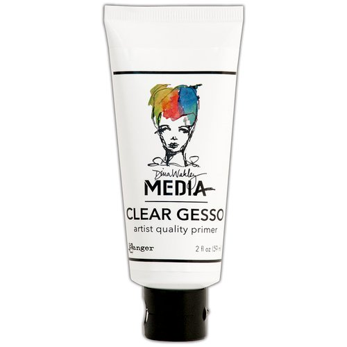 Ranger Ink - Dina Wakley Media - Gesso - Clear - 2 Ounce Tube