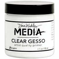 Ranger Ink - Dina Wakley Media - Gesso - Clear - 4 Ounce Jar