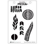 Ranger Ink - Dina Wakley Media - Unmounted Rubber Stamps - Bold Journal Elements
