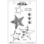 Ranger Ink - Dina Wakley Media - Unmounted Rubber Stamps - Grungy Stars