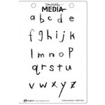 Ranger Ink - Dina Wakley Media - Unmounted Rubber Stamps - Scribbly Alphabet