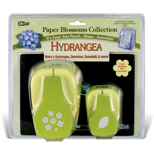 McGill - Paper Blossoms Collection - Paper Punch Set - Hydrangea