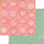 Marion Smith Designs - Mad Tea Party Collection - 12 x 12 Double Sided Paper - Spot of Tea