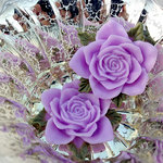 Marion Smith Designs - Junque and Gems Collection - Resin Roses - Lavender