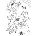 Marion Smith Designs - Clear Acrylic Stamps - Garden Rose