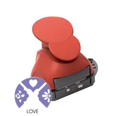 Marvy Uchida - Clever Lever Craft Punch - Tri-Corner - 3 in 1 - Love