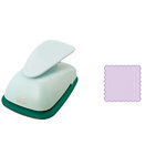 Marvy Uchida - Clever Lever Craft Punch - Extra Giga - Scalloped Square - 3 7/16 Inches