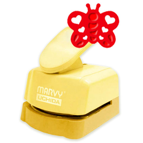 Marvy Uchida - Clever Lever Craft Punch - Silhouette and Embossing - Heart Butterfly - 1.5 Inch