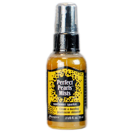 Ranger Ink - Perfect Pearls Mist - 2 Ounce Bottle - Sunflower Sparkle