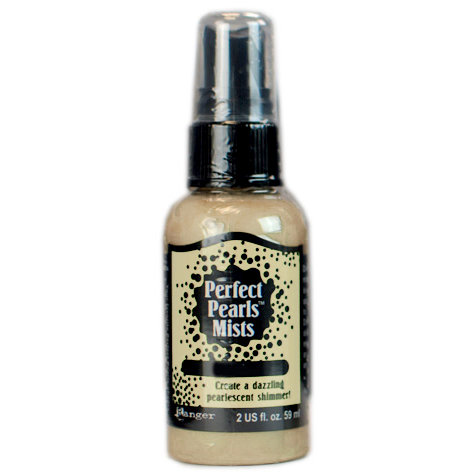 Ranger Ink - Perfect Pearls Mist - 2 Ounce Bottle - Biscotti