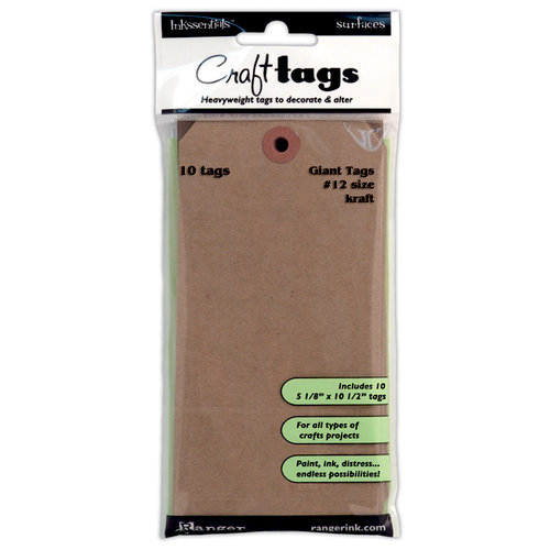 Ranger Ink - Inkssentials - Craft Tags - Size Number 12 - Kraft