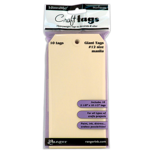 Ranger Ink - Inkssentials - Craft Tags - Size Number 12 - Manila