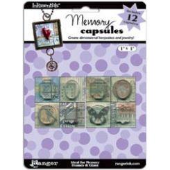Ranger Ink - Inkssentials - Jewelry - Memory Capsules - 1 x 1