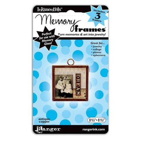 Ranger Ink - Inkssentials - Jewelry - Memory Frames - 1.5 x 1.5 - Antique Copper