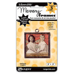 Ranger Ink - Inkssentials - Jewelry - Memory Frames - 2 x 2 - Polish Chrome