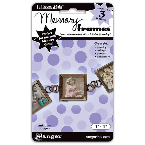 Ranger Ink - Inkssentials - Jewelry - Memory Frames - 1 x 1 - Antique Copper