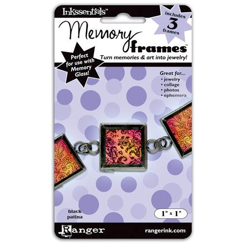 Ranger Ink - Inkssentials - Jewelry - Memory Frames - 1 x 1 - Black Patina