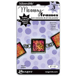 Ranger Ink - Inkssentials - Jewelry - Memory Frames - 1 x 1 - Black Patina