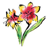 Rubbernecker Stamps - Cling Mounted Rubber Stamp Set - Lilies