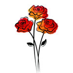 Rubbernecker Stamps - Cling Mounted Rubber Stamp Set - Rose Trio