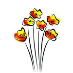 Rubbernecker Stamps - Cling Mounted Rubber Stamp Set - Buttercups