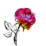 Rubbernecker Stamps - Cling Mounted Rubber Stamp Set - Splatter Flower 2