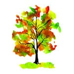 Rubbernecker Stamps - Cling Mounted Rubber Stamp Set - Fall Foliage